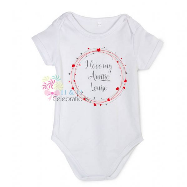 I Love My... Hearts Around Personalised Baby Vest